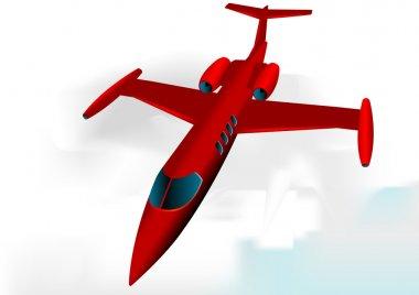 Learjet fully editable vector image stock vector