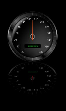 Speedometer with gradient mesh. Well worth zooming in on to have a look at the detail. clip art vector