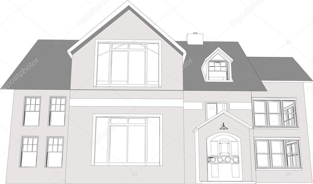 Architects 3D Home / Office — Stock Vector © Editorial #2009835