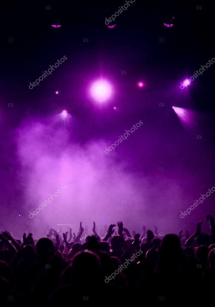 Violet Concert Atmosphere