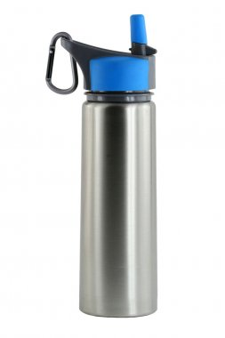 Isolated aluminum water bottle