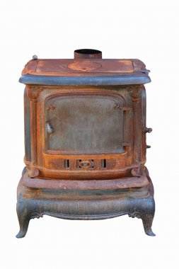 Old rusty cast iron stove