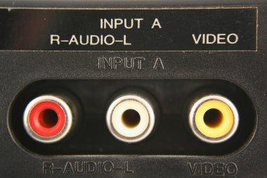 Audio video input jacks