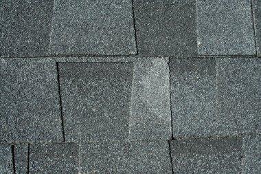 Black asphalt roofing