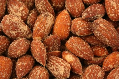 Roasted Almonds Background Texture