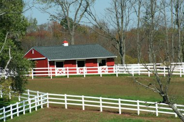 Red Barn and white fence