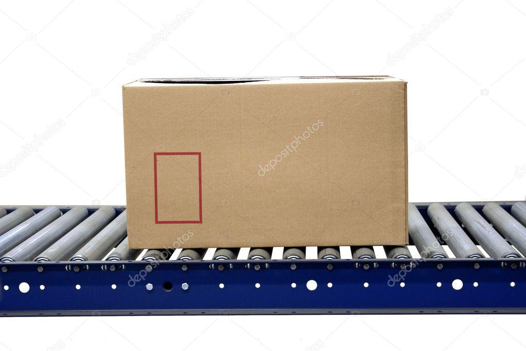Carton on conveyor