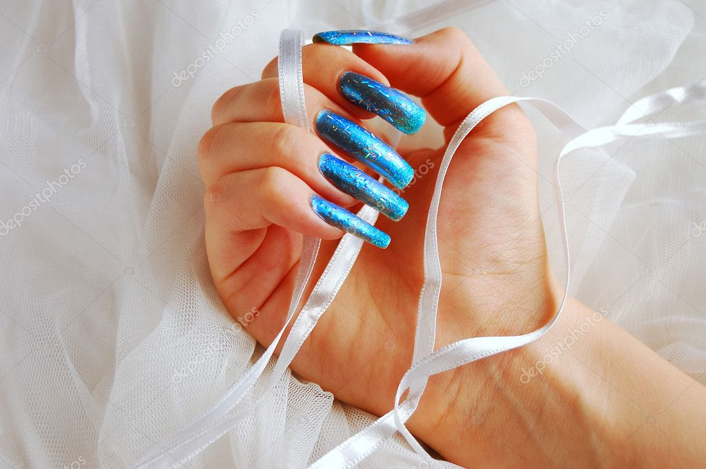 Manicure on long real nails — Stock Photo © count_kert #2198969