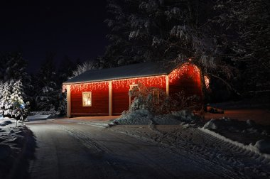 Beautifully decorated Christmas house