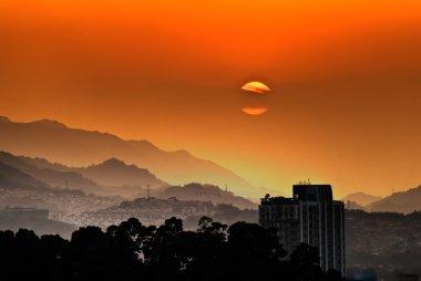City sunset scenery