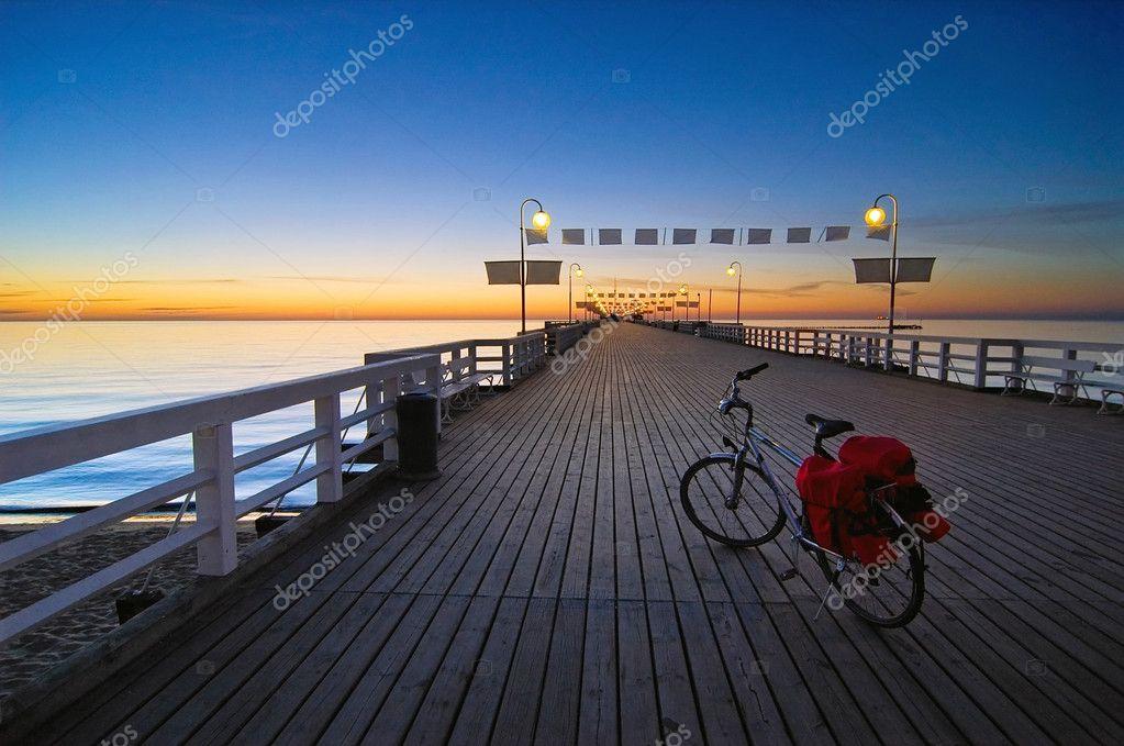 Bike on a pier