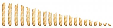 Time lapse - Baguette being eaten