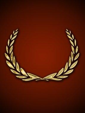 Golden crown of laurels