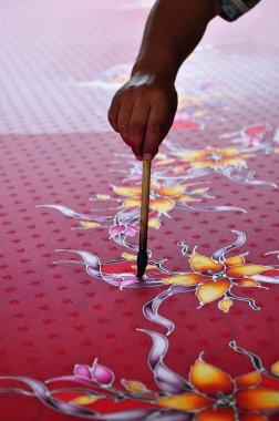 Batik making.