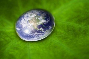 Planet earth waterdrop.