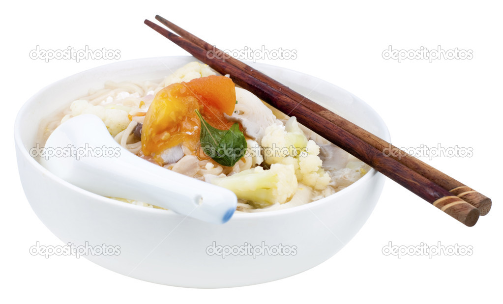 vegetarisk nudlar soppa
