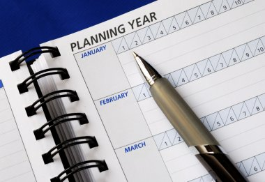 Planning the year on the day planner