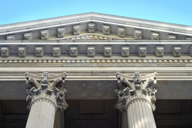 Neoclassical architecture with columns