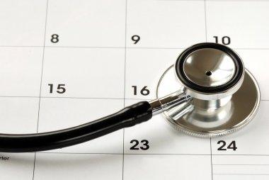 A stethoscope on the calendar