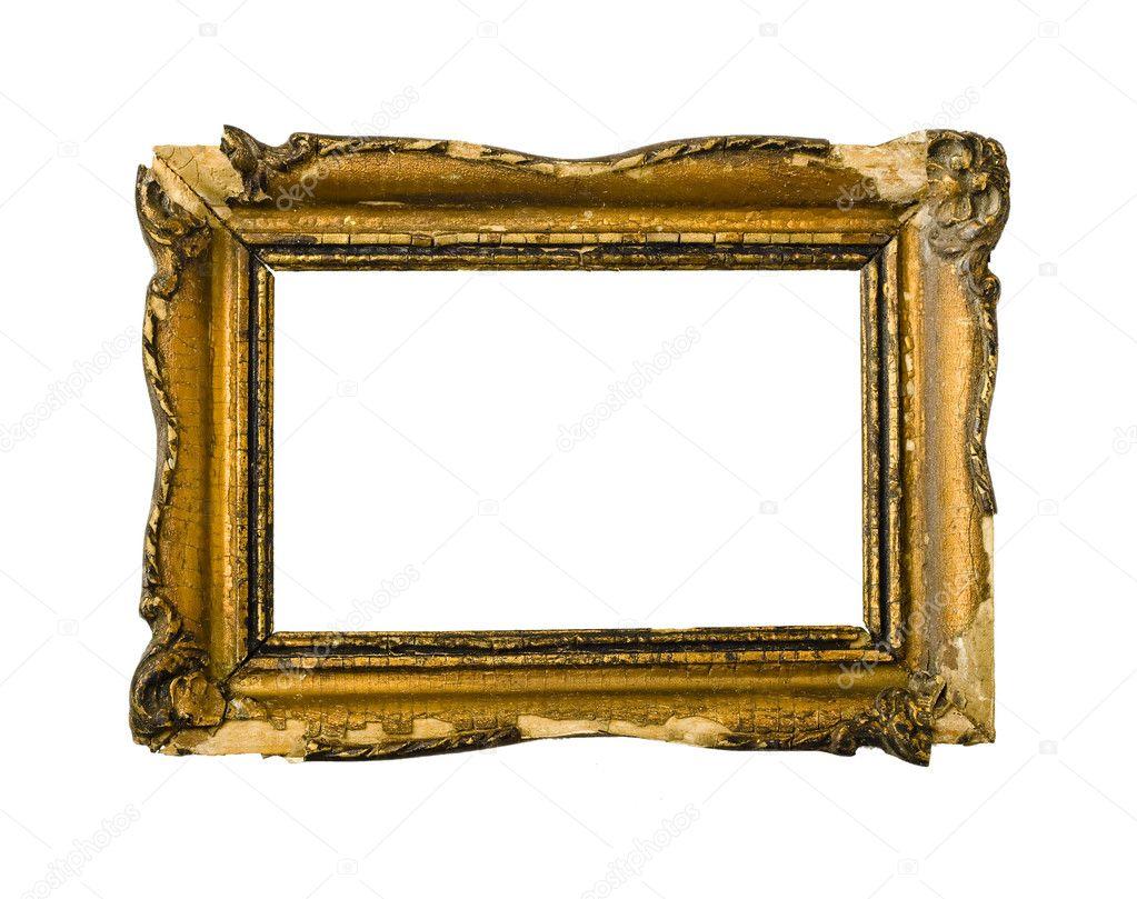 Broken gold vintage picture frame — Stock Photo © meischke #2095292