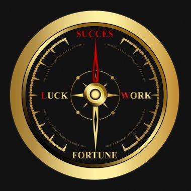 Bright success golden Compass,