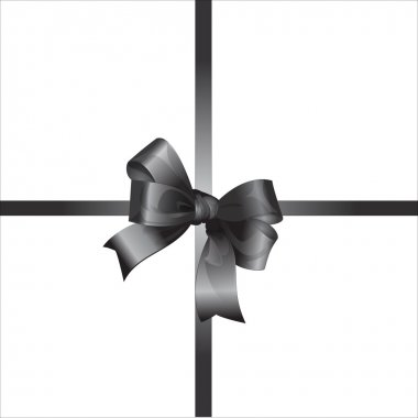 Vector gift with black and white bow