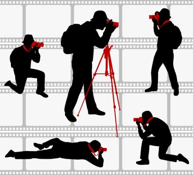 Photographers silhouettes