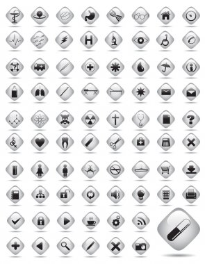 Medical buttons. Vector