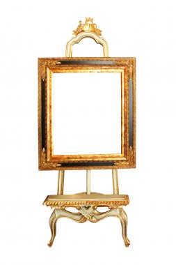 Picture easel isolated