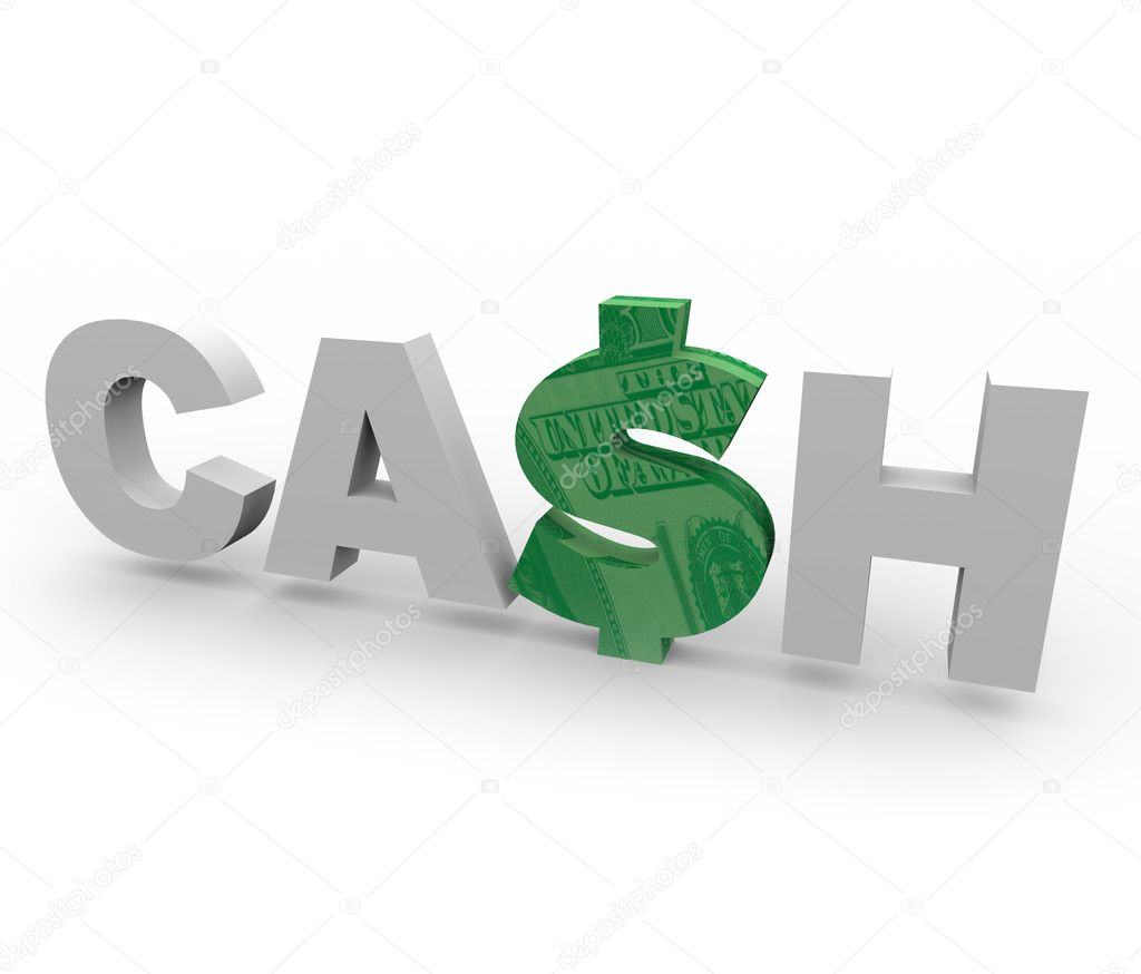 cash word with dollar sign 1 stock photo iqoncept 2077133
