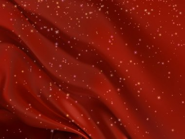 Red satin background with stars