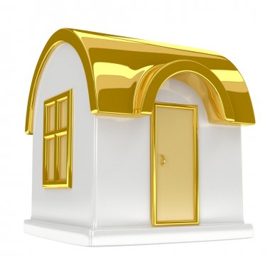 Golden toy house