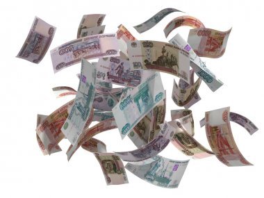 Russian rubles falling isolated