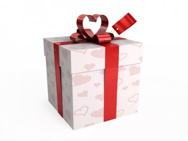 Present with hearts & tag