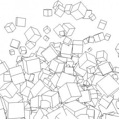 Blocks on white