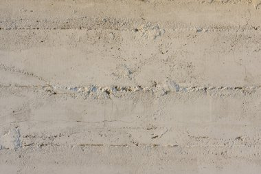 Concrete wall painted white
