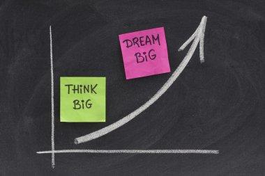 Think big, dream big concept