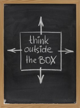 Think outside the box phrase