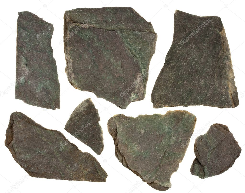 Slate rock with red and green tint