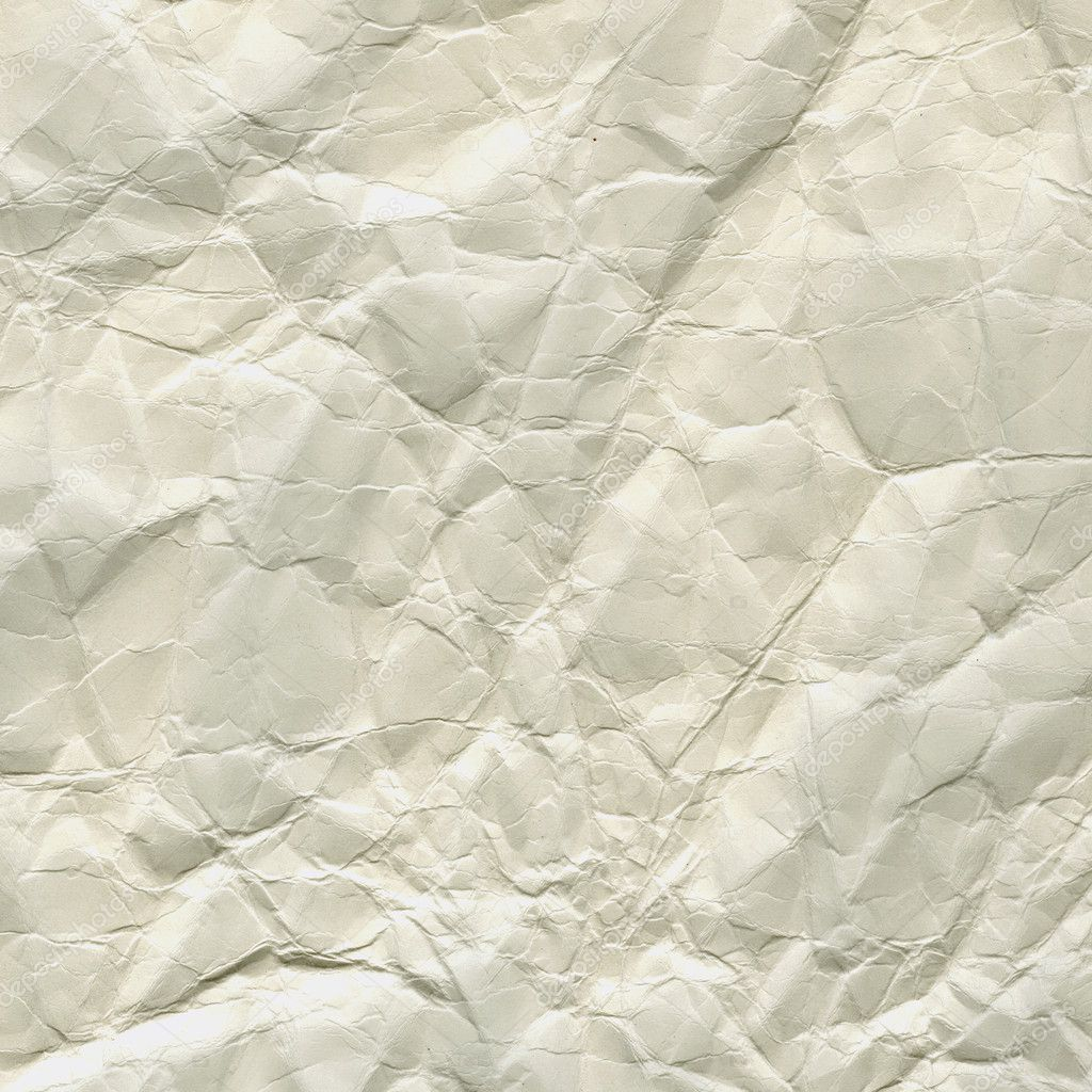 Thick white crumpled paper texture