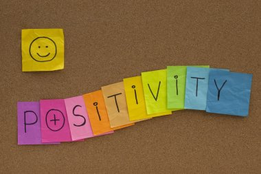 Positivity concept with smiley