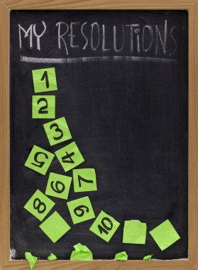 Fading new year resolutions