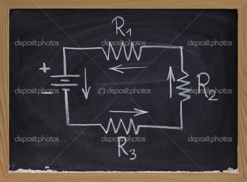 elektrische Schaltung Schaltplan auf Tafel — Stockfoto © PixelsAway ...