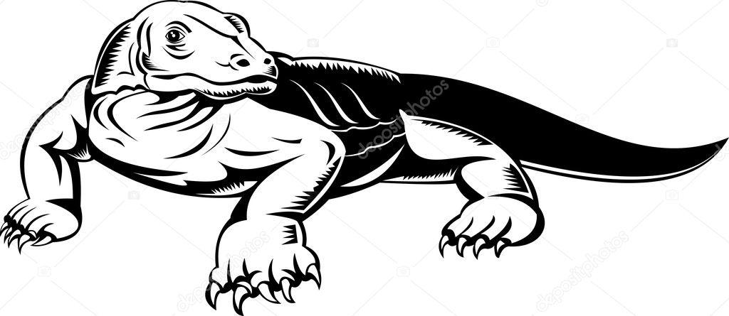 Komodo Dragon Monitör Kertenkele Stok Foto Patrimonio