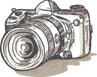 Drawing of a digital SLR camera