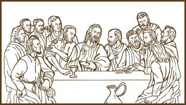 Last supper Jesus Christ disciples