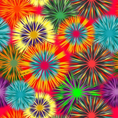 Seamless art flower pattern