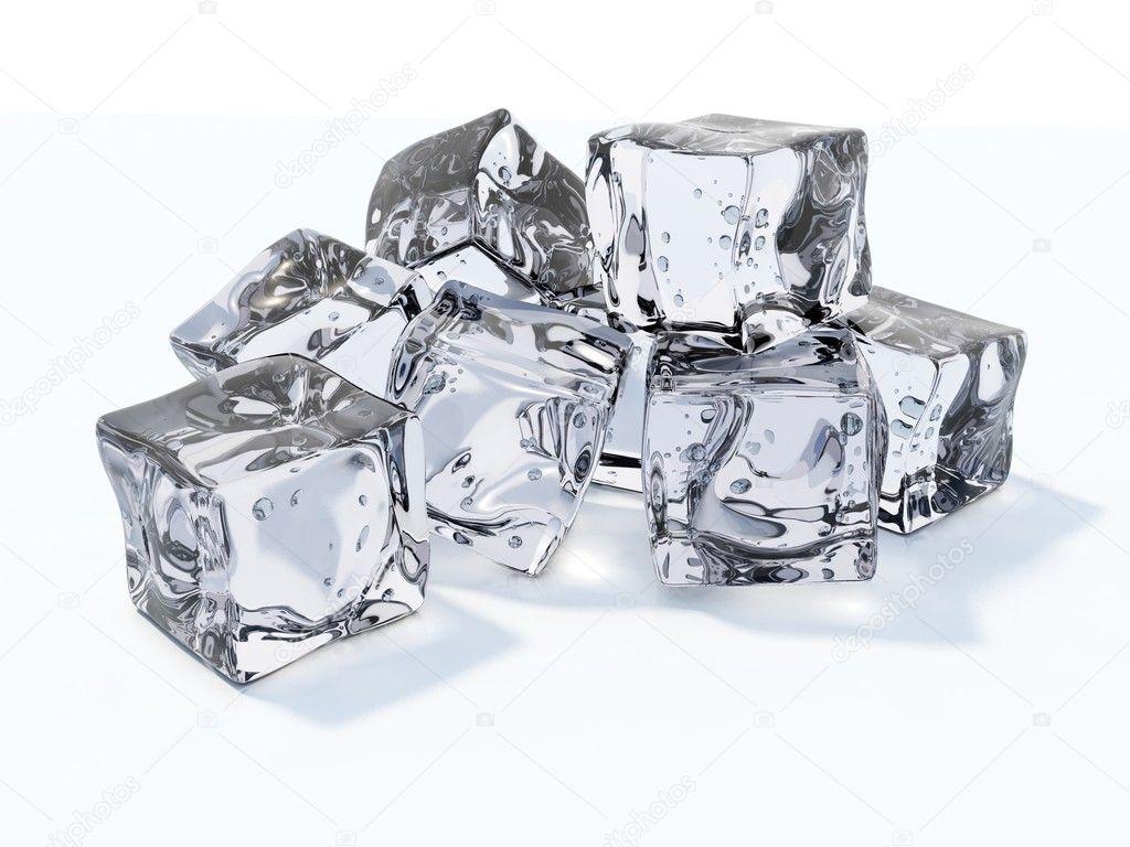 how to break ice cubes