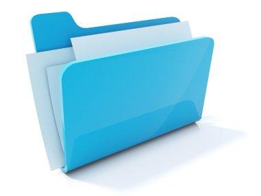 Full blue folder icon