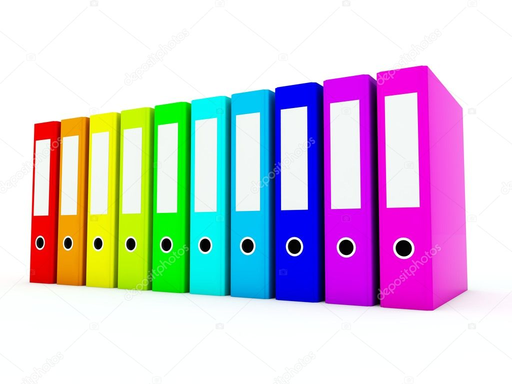 gekleurde mappen — Stockfoto © Mishchenko #2208365